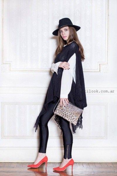 tejido estilo poncho Millie invierno 2016