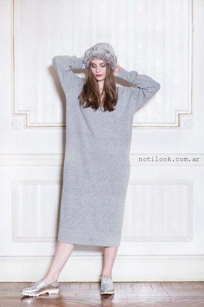 vestido largo tejido Millie invierno 2016