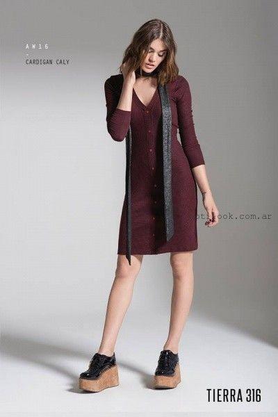 vestido mangas largas tejido Tierra 316 invierno 2016