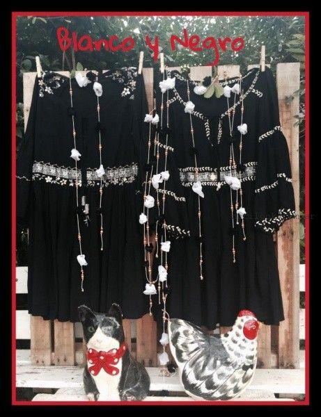vestidos cortos de dia con bordados artesanales Las Dumas invierno 2016