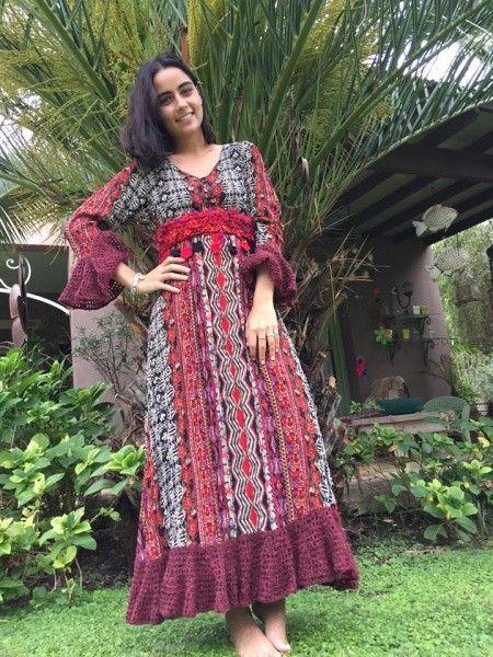 vestidos de dia con bordados artesanales Las Dumas invierno 2016