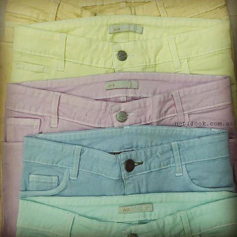 Ag Store - jeans de colores primavera verano 2017