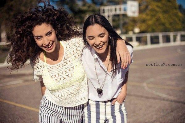 shores y blusas juveniles tramps primavera verano 2017