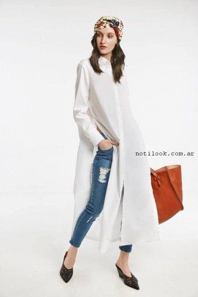 Vestidos camisero de gasa  primavera verano 2017 - Maria Cher