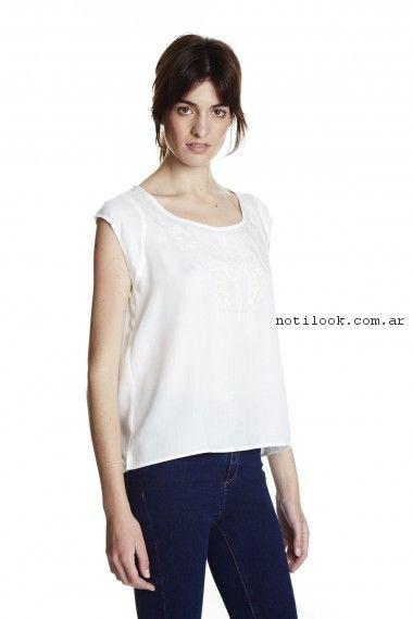 blusa blanca yagmour primavera verano 2017