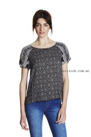 blusa mangas cortas yagmour primavera verano 2017