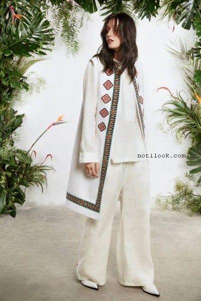 blusa y palazo blanco verano 2017 - Maria Cher