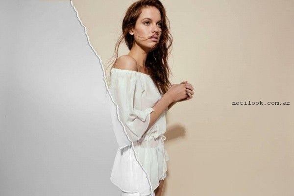 blusas blancas Pura Pampa Primavera Verano 2017