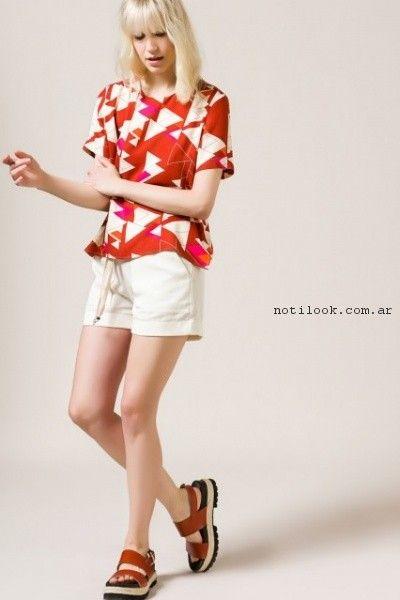 blusas de seda estampa geometrica portsaid verano 2017