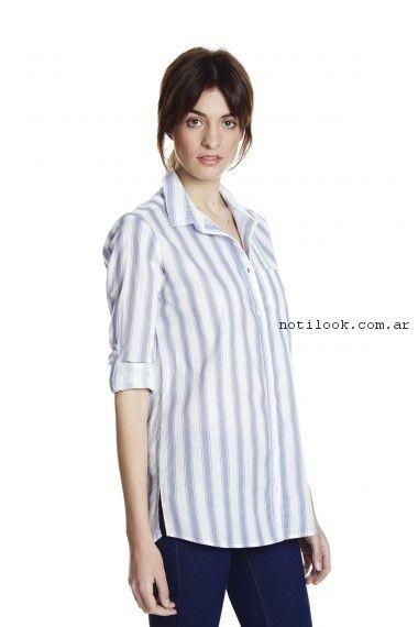 camisa a rayas mujer yagmour primavera verano 2017