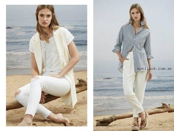 camisa a rayas para mujer Estancias Chiripa primavera verano 2017