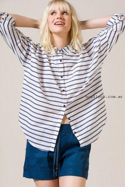 camisa a rayas portsaid verano 2017