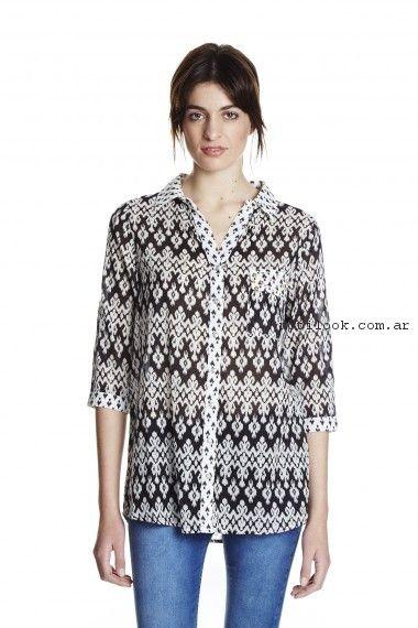 camisa estampada mujer yagmour primavera verano 2017