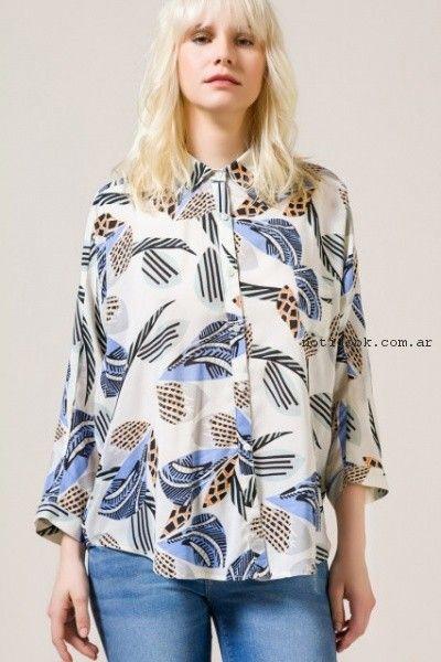 camisa estampada para mujer portsaid verano 2017