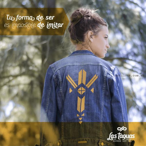 campera con impresiones las taguas primavera verano 2017