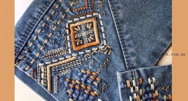 jeans bordados Moravia verano 2017