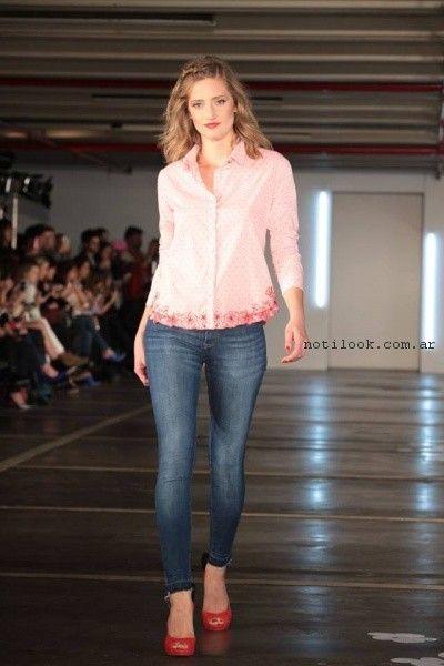 jeans camisa las oreiro 2017