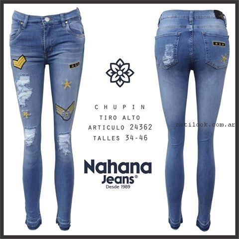 jeans con apliques bordados nahana jeans verano 2017