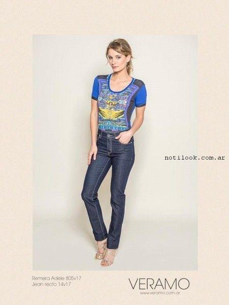 jeans recto mujer veramo primavera verano 2017