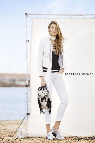 outfit informal en blanco y negro  verano 2017 - TUCCI