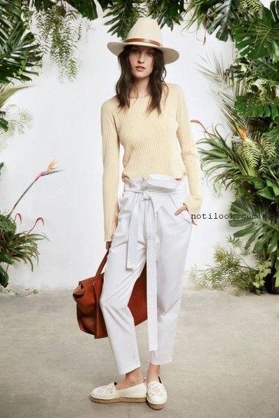 panatalon blanco y sweater verano 2017 - Maria Cher