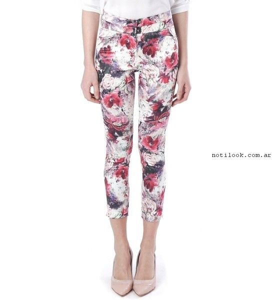 pantalon chupin estampado  verano 2017 - Markova