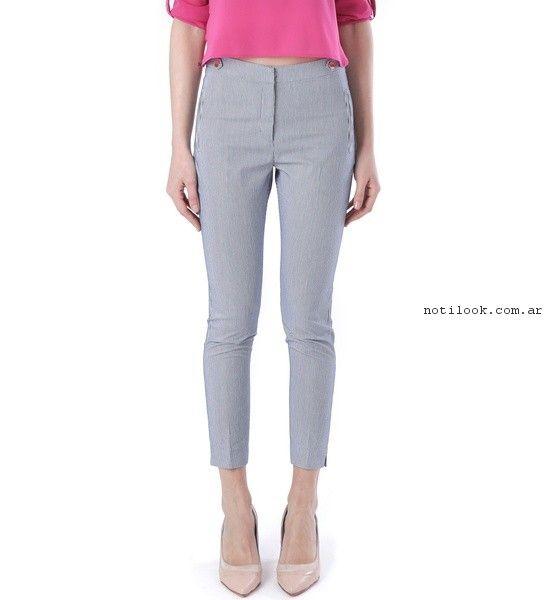 pantalon de vestir chupin gris mujer  verano 2017 - Markova