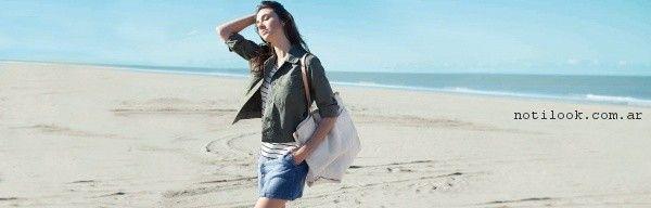 pollera de jeans abotonada sail primavera verano 2017