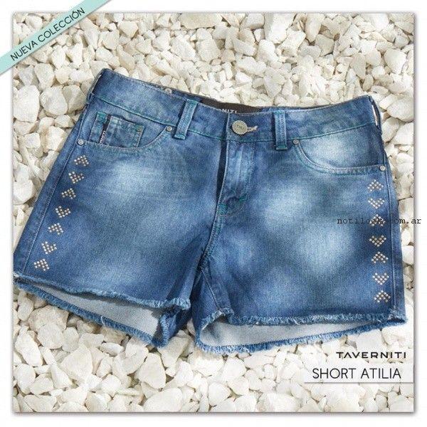 short de jeans con tachas taverniti jeans primavera verano 2017