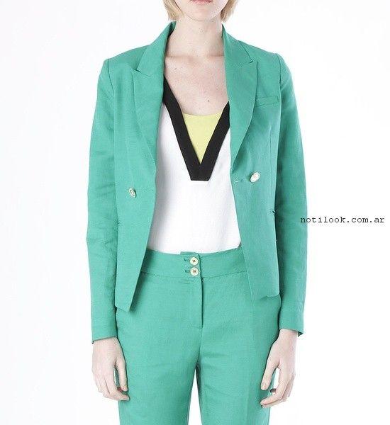 traje verde mujer  verano 2017 - Markova