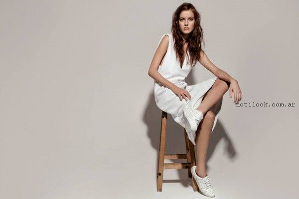 vestido blanco de dia Pura Pampa Primavera Verano 2017