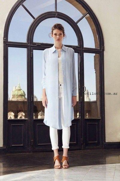 vestido camisero celeste Paula Cahen D Anvers primavera verano 2017