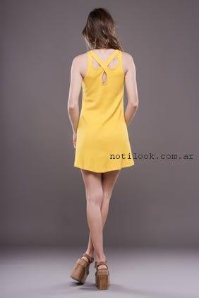 vestido corto amarillo Alma jeans verano 2017