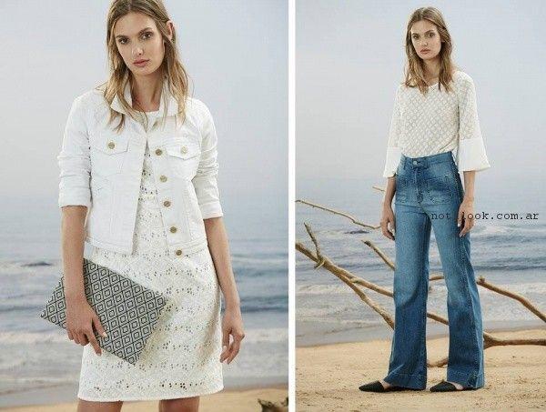 vestido corto de broderie Estancias Chiripa primavera verano 2017