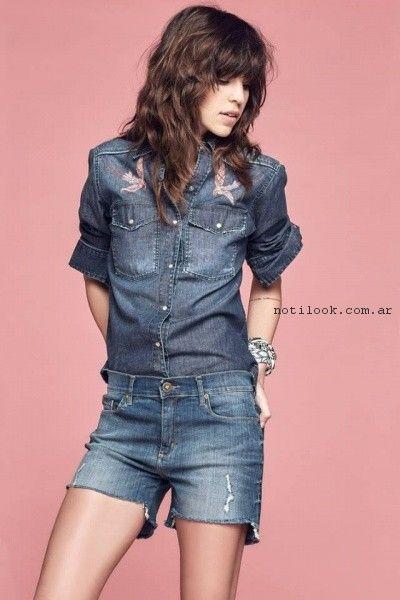 Shorts de jeans primavera verano 2017 - Melocoton