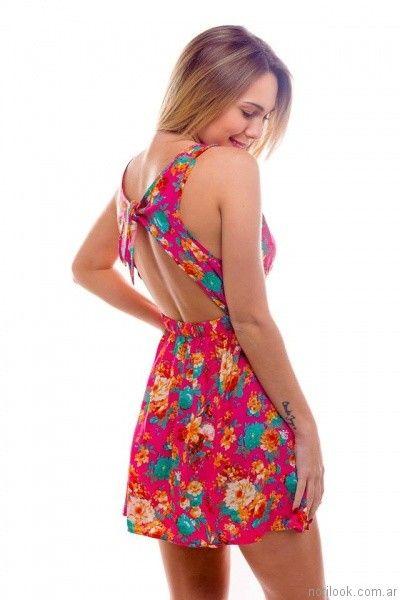 vestido floreado casual informal verano 2017 afixis internacional