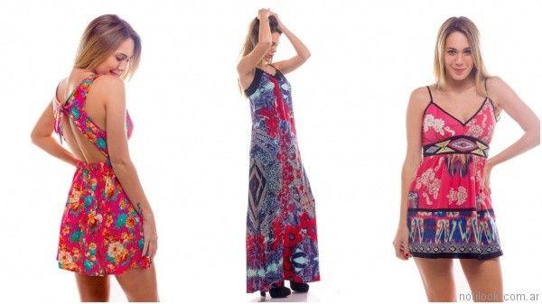 vestidos estampados informales para el dia verano 2017