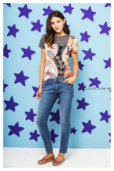 blusa estampad ay jeans verano 2017 - Benito Fernandez