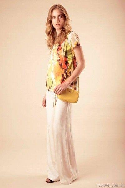 blusas estampadas sarawak verano 2017