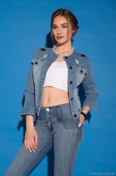 campera de jeans con apliques viga jeans verano 2017