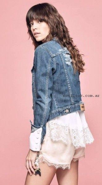 campera de jeans primavera verano 2017 - Melocoton
