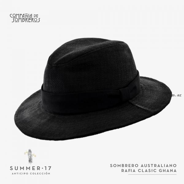 d42186dec2d32 capelina de rafia negra compañia de sombreros primavera verano 2017 ...