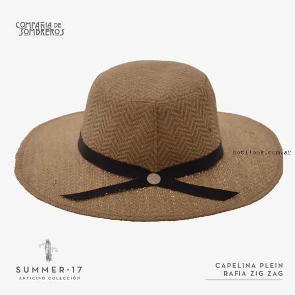capelina rafia zig zag compañia de sombreros primavera verano 2017