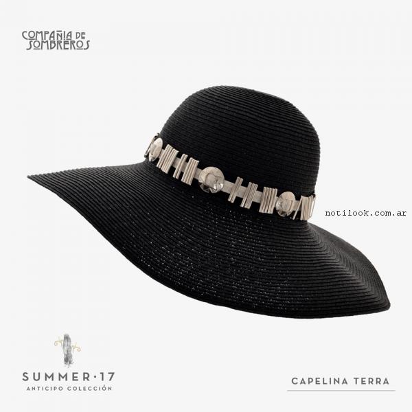 capelinas elegantes compañia de sombreros primavera verano 2017 ... 4472c52f028
