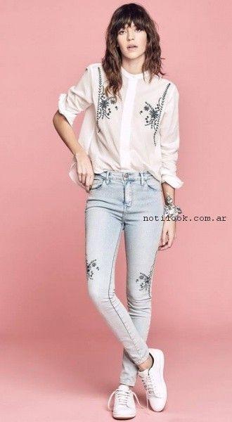 chupinr bordado de jeans primavera verano 2017 - Melocoton