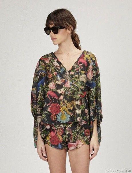 conjunto estampado de blusa y short ginebra primavera verano 2017 copia