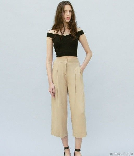 crop pant chocolate verano 2017