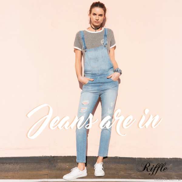 jardinero de jeans riffle jeans verano 2017