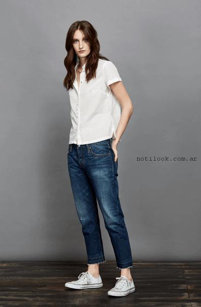 jeans capri recto levis primavera verano 2017