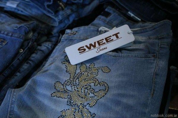 jeans con apliques sweet primavera verano 2017